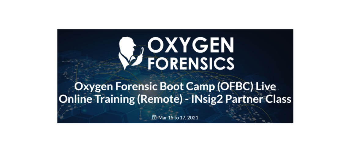 Oxygen Forensics Boot Camp (OFBC)